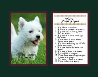 Westie Property Laws Wall Decor Humorous Pet Dog Saying Gift   Decorative Plaques