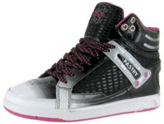PASTRY Run Athletics Flap Jack Womens High Top Patent Sneakers Shoes Black/White/Hot Pink: Shoes
