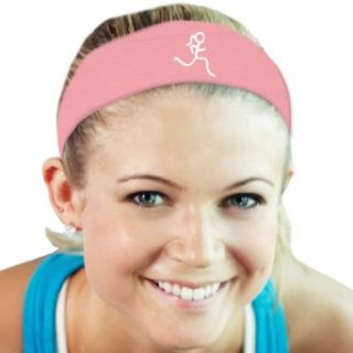 RokBAND Multi Functional Headband   Run Girl   Light Pink : Sports Headbands : Sports & Outdoors
