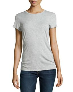 Womens Boy Fit Jersey Tee, Heather Gray   Vince   Heather grey (SMALL/2 4)