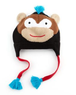 Boys Rock Monkey Hat, Black   Zubels   Black (0/6)