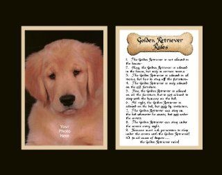 Dog Rules Golden Retriever Wall Decor Pet Saying   Prints
