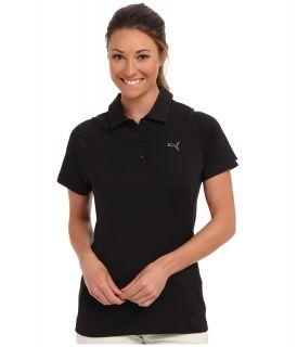 PUMA Golf Duo Swing Polo Womens Short Sleeve Knit (Black)