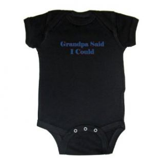 So Relative! Grandpa Said I Could (Red & Blue) Baby Bodysuit: Clothing