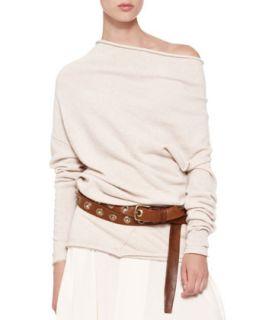 Asymmetric Neck Drape Tunic   Donna Karan