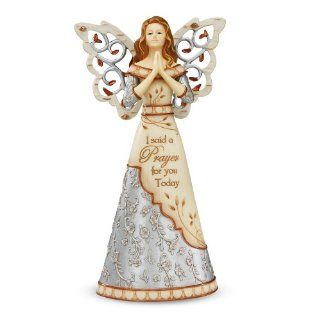 "Elements Praying Angel by Pavilion, Reads ""I Said a Prayer for You Today"", 7.5 Inches Tall   Collectible Figurines"