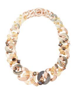 Katie Embellished Metal Turnlock Necklace, Rose Golden   MARC by Marc Jacobs