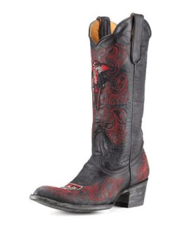 Texas Tech Tall Gameday Boots, Black   Gameday Boot Company   Black (37.0B/7.0B)