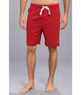 Original Penguin Comfortable Soft Knit Sleep Shorts Mens Pajama (Red)