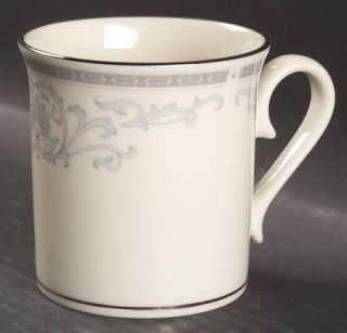 Lenox China Mt. Vernon Mug, Fine China Dinnerware   Presidential,Gray Scrolls An