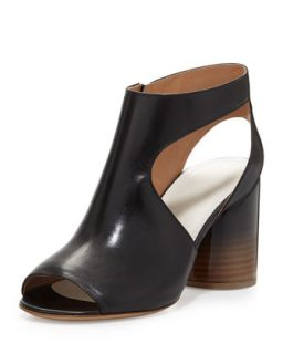 Leather Cutout Side Sandal, Black   Maison Martin Margiela   Black (35.5B/5.5B)
