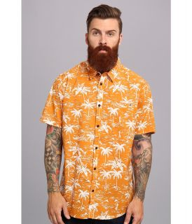 Rip Curl Balki S/S Shirt Mens Short Sleeve Button Up (Orange)