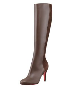 Acheval Suede Back Knee Boot, Coffee   Christian Louboutin   Coffee (39.0B/9.0B)