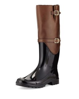 Carson Rabbit Fur Lined Rain Boot, Antelope   Jimmy Choo   Antelope (38.0B/8.0B)
