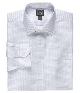 Signature Spread Collar Barrel Cuff Tailored Fit Check Dress Shirt JoS. A. Bank