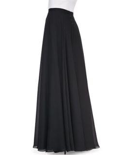 Womens Double Georgette Ball Skirt   Rickie Freeman for Teri Jon   Black (8)