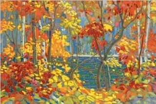 Canvas by Tom Thomson, The Pool, 36 in X 24 in. Ships same day. Ready to hang 100% cotton canvas.   Oil Paintings