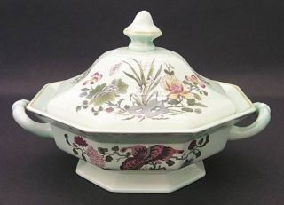 Adams China Ming Jade Octagonal Covered Vegetable, Fine China Dinnerware   Calyx