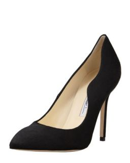 Besame Calf Hair Wave Side Pump   Brian Atwood   Black (39.0B/9.0B)