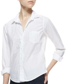 Womens Barry Buttoned Poplin Shirt, White   Frank & Eileen   White (SMALL)