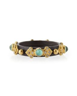 Old World Midnight 3mm Green Turquoise Stackable Band Ring   Armenta