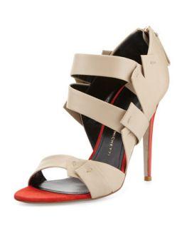 Amaranta Strappy Bandage Sandal, Red/Beige   Daniele Michetti   Red/Beige (36.
