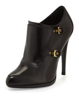 Double Monk Ankle Bootie   Tom Ford   Black (39.0B/9.0B)