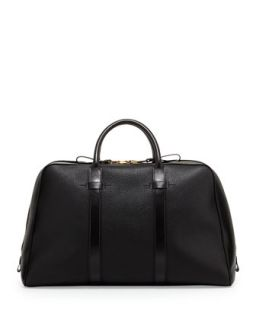 Mens Wide Zip Trapeze Duffle Bag, Black   Tom Ford   Black
