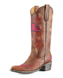 Ole Miss Tall Gameday Boots, Brass   Gameday Boot Company   Brass (38.0B/8.0B)