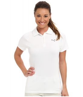 PUMA Golf Duo Swing Polo Womens Short Sleeve Knit (White)