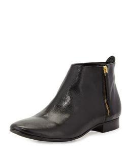 Belmont Leather Zip Bootie   Cole Haan   Black (38.0B/8.0B)