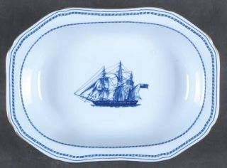 Spode Trade Winds Blue 9 Oval Vegetable Bowl, Fine China Dinnerware   Blue Band