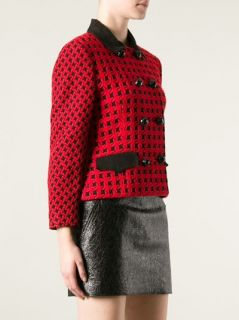 Genny By Gianni Versace Vintage Houndstooth Jacket