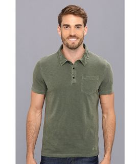 Kenneth Cole Sportswear Polo With Woven Taping Mens Short Sleeve Pullover (Blue)