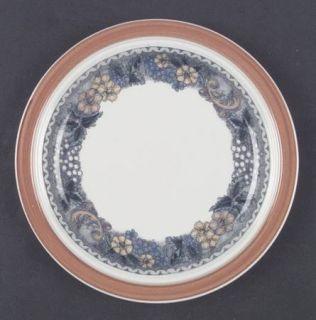 Goebel Burgund Salad Plate, Fine China Dinnerware   Country,Rust Rim,Yellow,Blue
