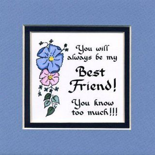 Always Best Friend Saying Home Decor Wall Sign Friend Gift: Kitchen & Dining
