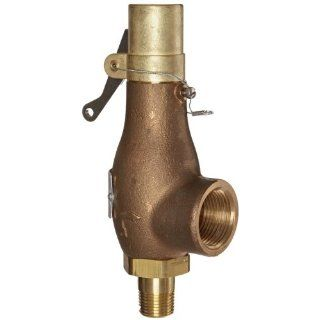 "Kingston 710D46N1K 150 Safety Valve, D Orifice, Brass Body & Trim, 1/2"" Inlet x 1"" Outlet, Buna N Disc, Open Lever, ASME Sec. VIII Air/Gas, 15 400 psi Pressure Range, 150 psi Set Pressure: Industrial Relief Valves: Industrial & Scientific"