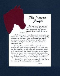 Horse's Prayer Saying Wall Sign Home Decor Horse Lover Saying   Decorative Plaques