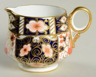 Royal Crown Derby Traditional Imari Creamer, Fine China Dinnerware   Blue Panels