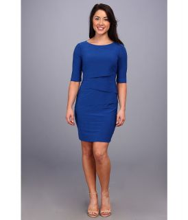 Tahari by ASL Petite Anna Dress Womens Dress (Blue)