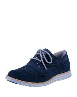 Lunargrand Suede Wing Tip, Blazer Blue   Cole Haan   Blazer blue (37.0B/7.0B)