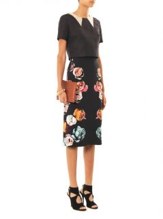 Floral print crepe skirt  Honor