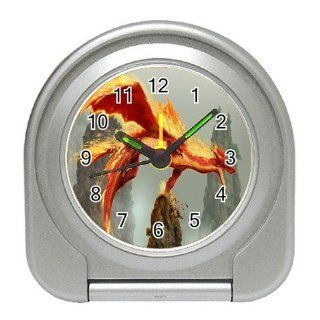 Fire Dragon Graphic Logo Travel Alarm Clock : Everything Else