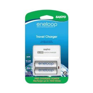 Sanyo SEC TDR02N Eneloop 1500 Cycle Travel Charger Kit: SANYO: Home Improvement