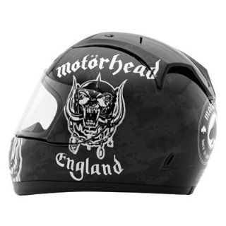 Rockhard Motorhead Motorizer Full Face Helmet (Black, Medium): Automotive