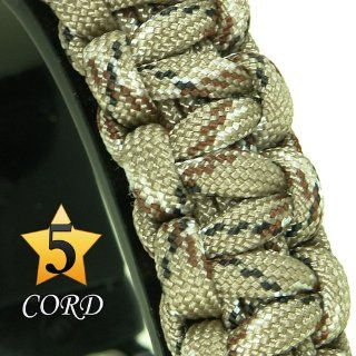 "Para Cord Survival Bracelet ""Desert Camo"" 9 Inch : Camping First Aid And Safety Equipment : Sports & Outdoors"