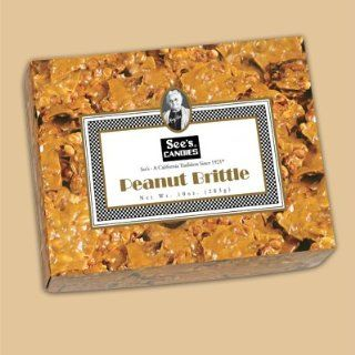 See's Candies 10 oz. Peanut Brittle : Grocery & Gourmet Food