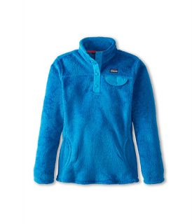 Patagonia Kids Girls Re Tool Snap T® (Little Kids/Big Kids)  Larimar Blue   Bandana Blue X Dye