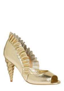 Jeffrey Campbell Unicorn Princess Heel in Gold  Mod Retro Vintage Heels