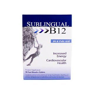 Sublingual B12 With B6 Heaven Sent 30 Tabs: Health & Personal Care